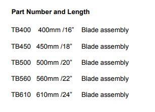 TB Series Conventional Blades TB-XXX