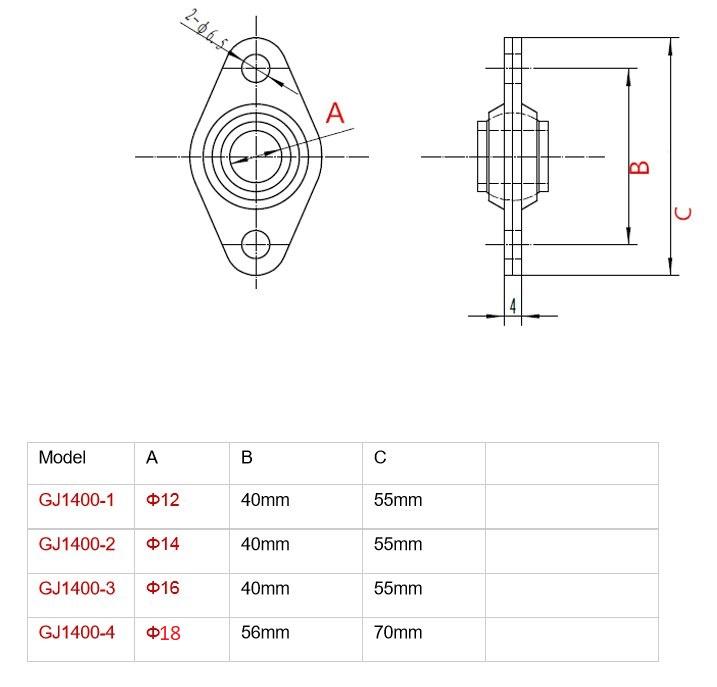 Flange Bearing SW1400-4